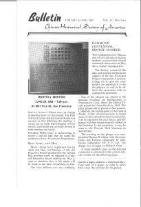 CHSA Bulletin May June 1969 Railroad Centennial marker Utah_Page_1