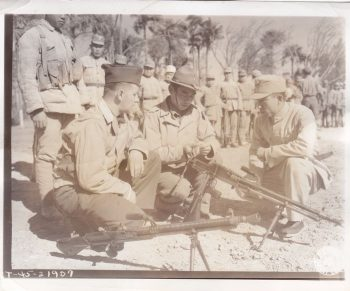 Major John C. Young, instructing Chinese troops on use of weapons, February 20, 1945. Photo courtesy Connie Young Yu