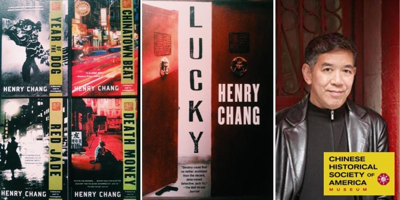 "Author Henry Chang presents his new book ""Lucky"" at CHSA on April 1, 2017"